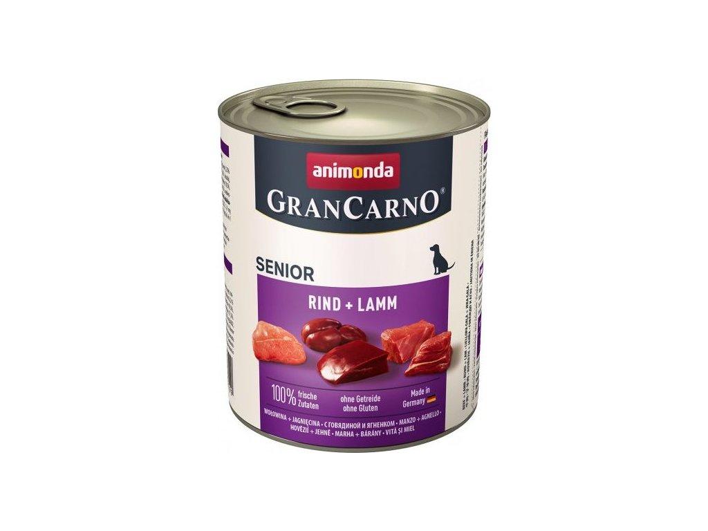 GRANCARNO Senior - hovězí, jehněčí 800 g