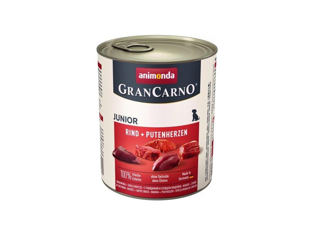 GRANCARNO JUNIOR - hovězí, krůtí srdce 800g