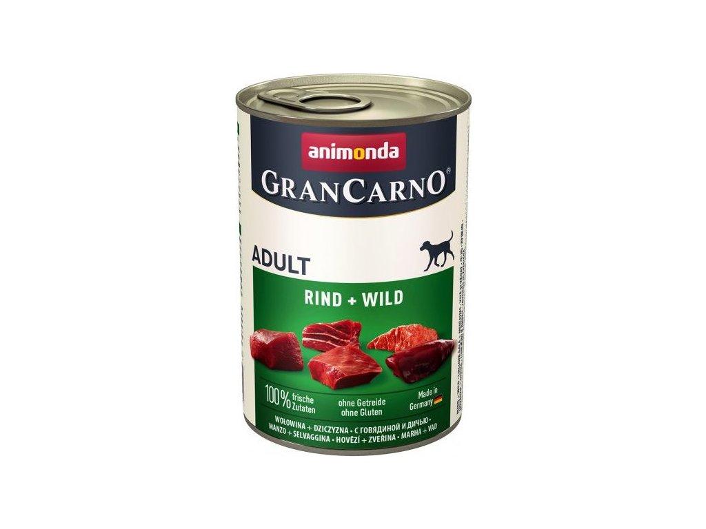 GRANCARNO Adult - hovězí + zvěřina 400g