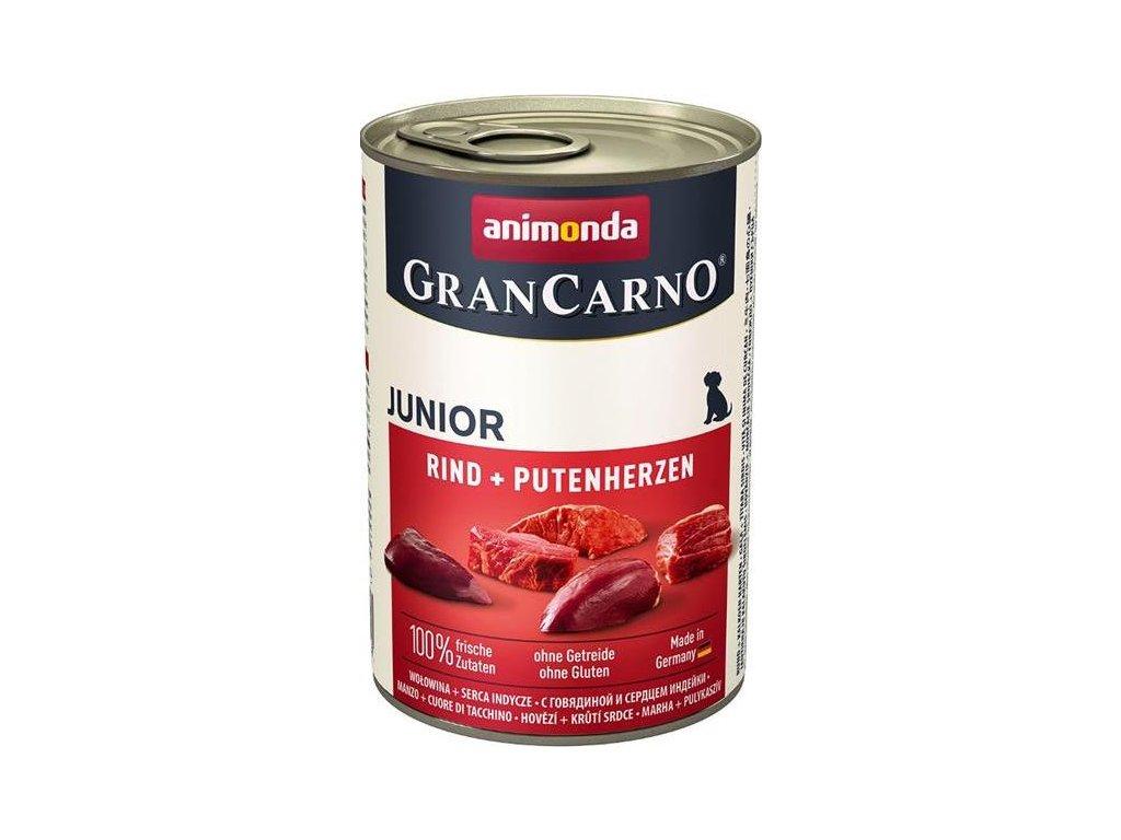 GRANCARNO JUNIOR - hovězí, krůtí srdce 400g