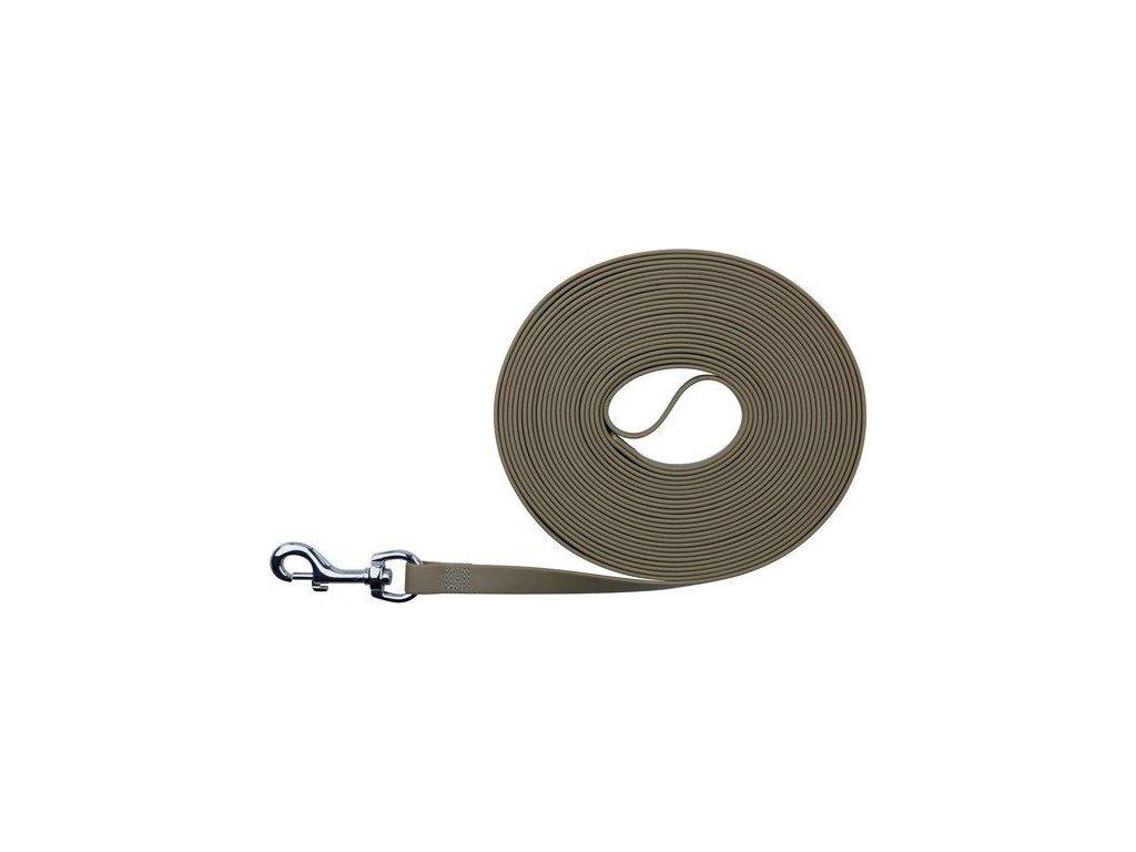 Easy Life trekové vodítko PVC 10,00 m/17 mm taupe-šedé