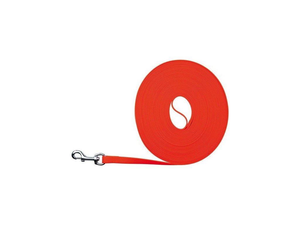 Easy Life trekové vodítko PVC S-XL 5,00 m/17mm neon oranžová