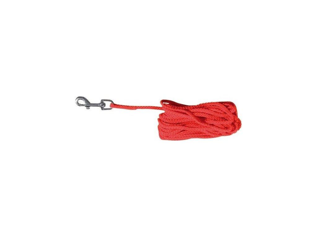 Prodlužovací vodítko šňůra 15 m/5 mm - červená