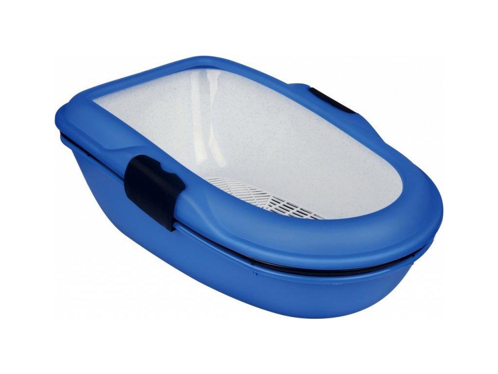 WC BERTO - dvojitá nádoba se sítem 59x39x22 cm - modré