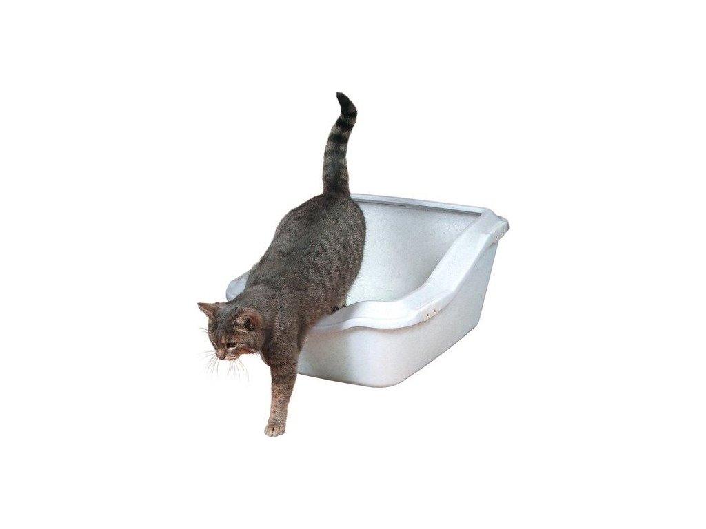 WC s okrajem, zvýšená zadní část 45x21(29)x54cm - bílá