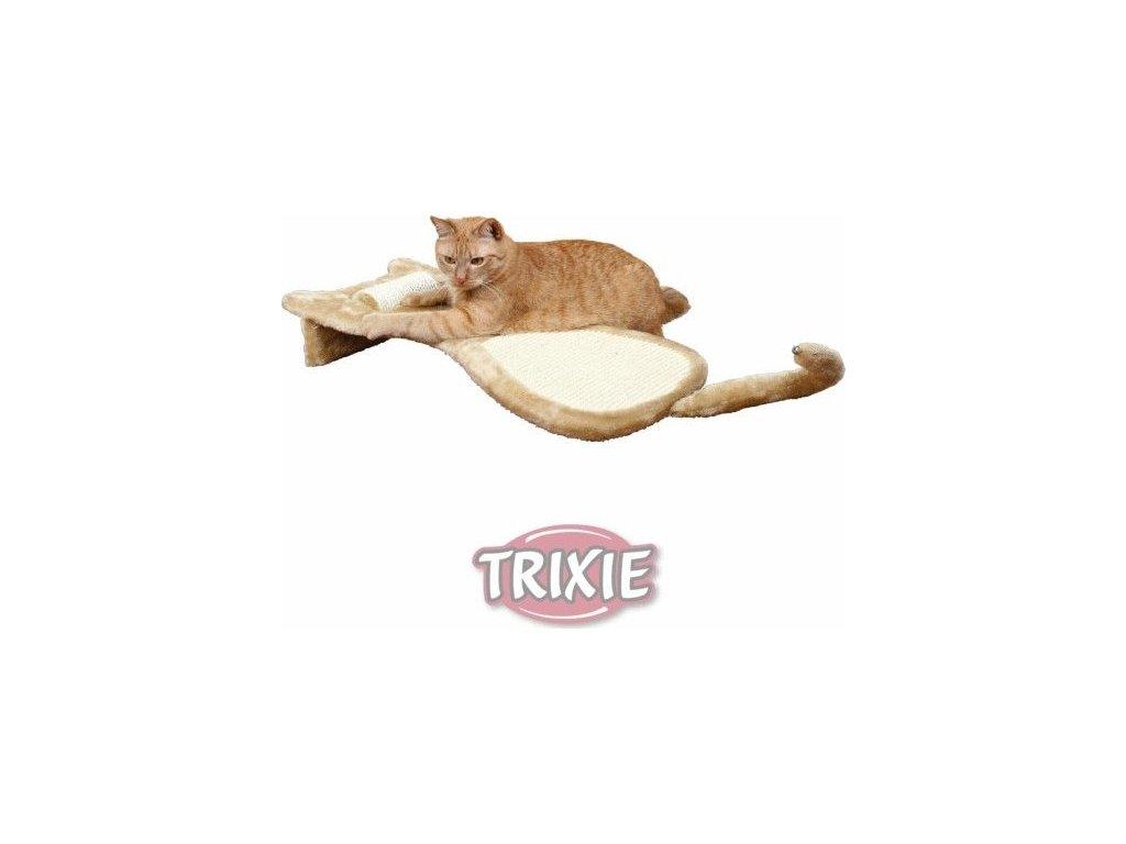 Škrábací deska tvar kočka s otočným válcem 34x67x11cm