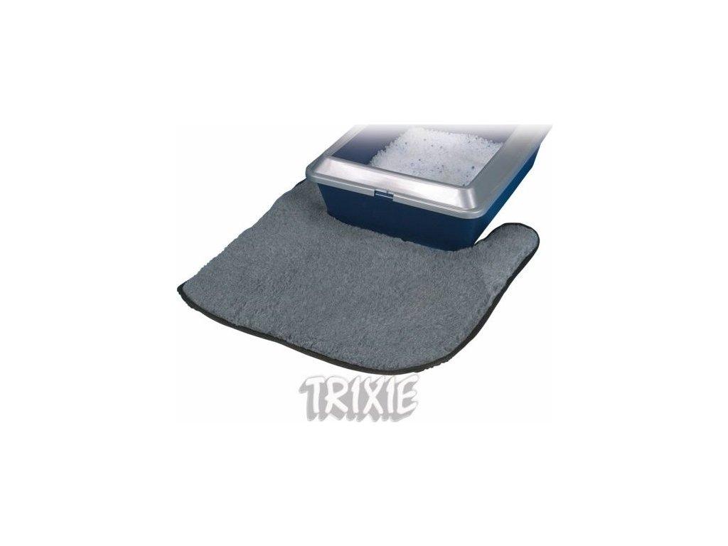 Polyesterová předložka světle šedá k WC 50 x 50 cm