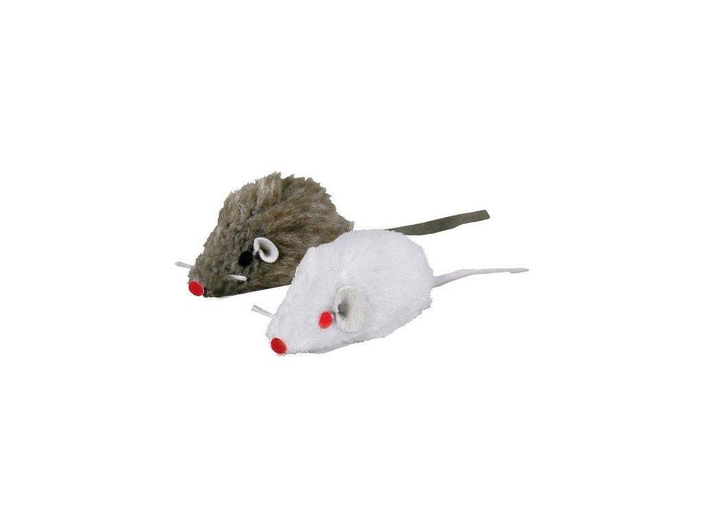 Mini - Mouse, bal. 160 ks bílá, šedá myš 5 cm