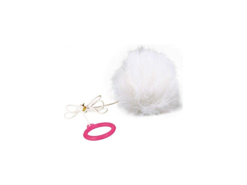 Kožešinová koule na provázku s catnipem 7cm TRIXIE