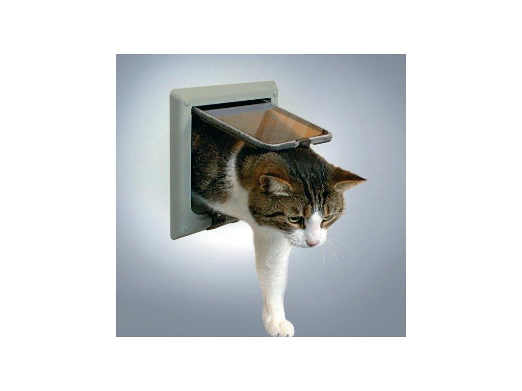 Dvířka kočka plast 4funkční s nástavci Šedá TR