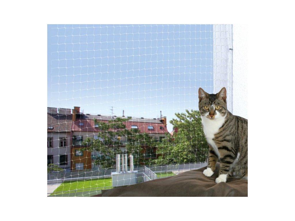 Ochranná síť pro kočky 6x3m - transparentní