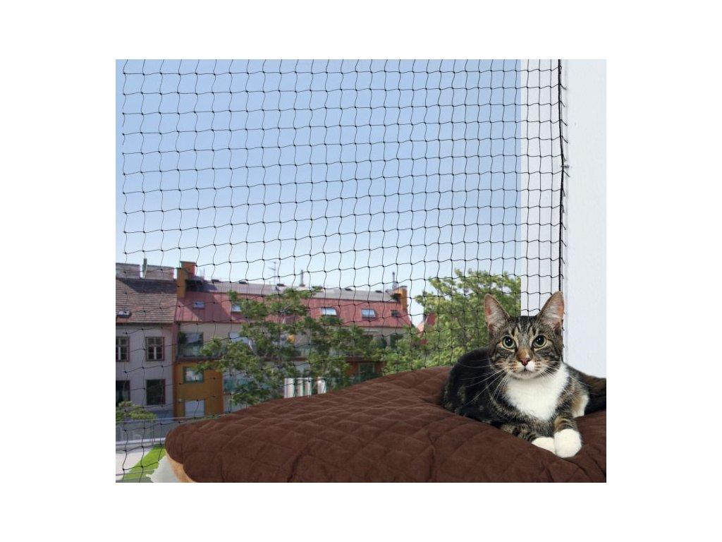 Ochranná síť pro kočky 3x2m - černá