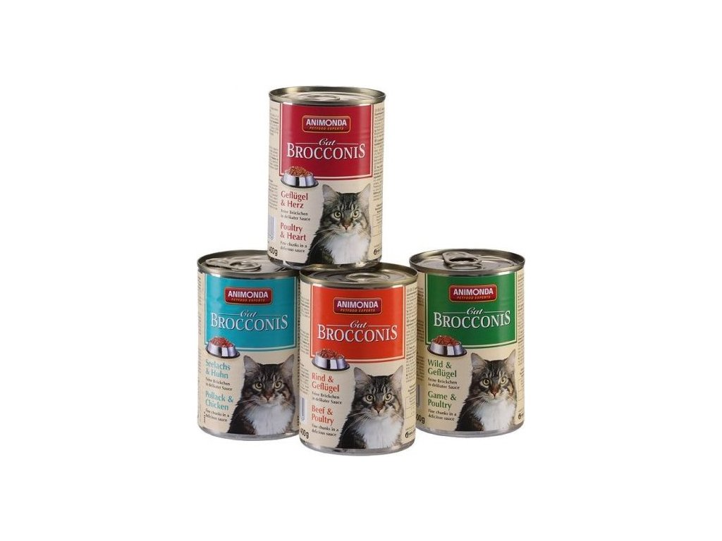 ANIMONDA konzerva BROCCONIS - hovězí, drůbeží pro kočky 400g
