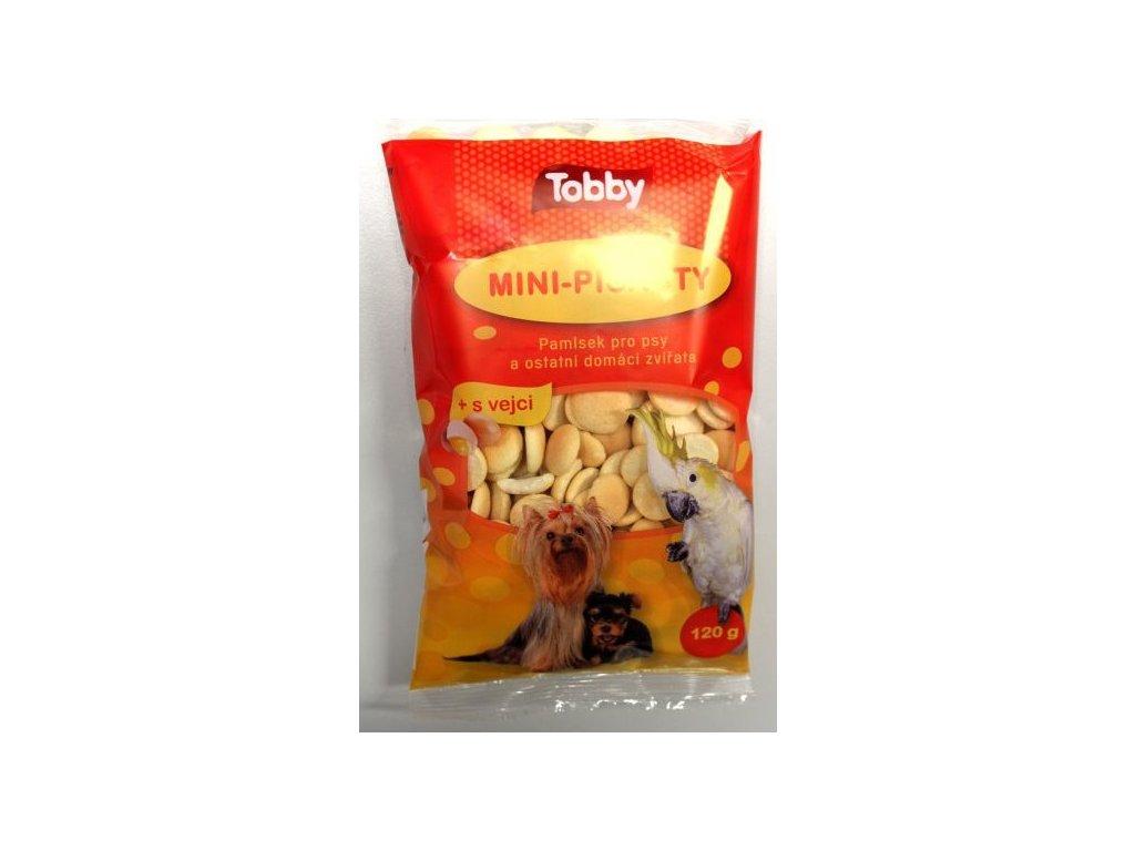TOBBY MINI PIŠKOTY pro zvířata 120 g