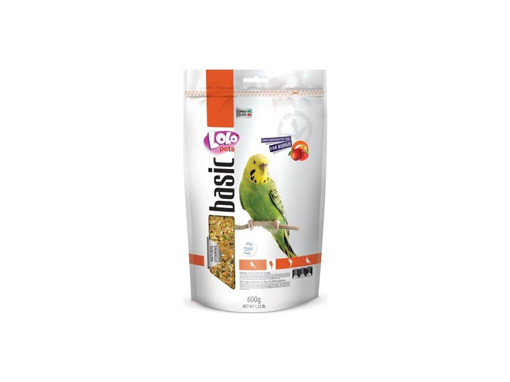 LOLO BASIC ovocné krmivo pro andulky 600 g Doypack