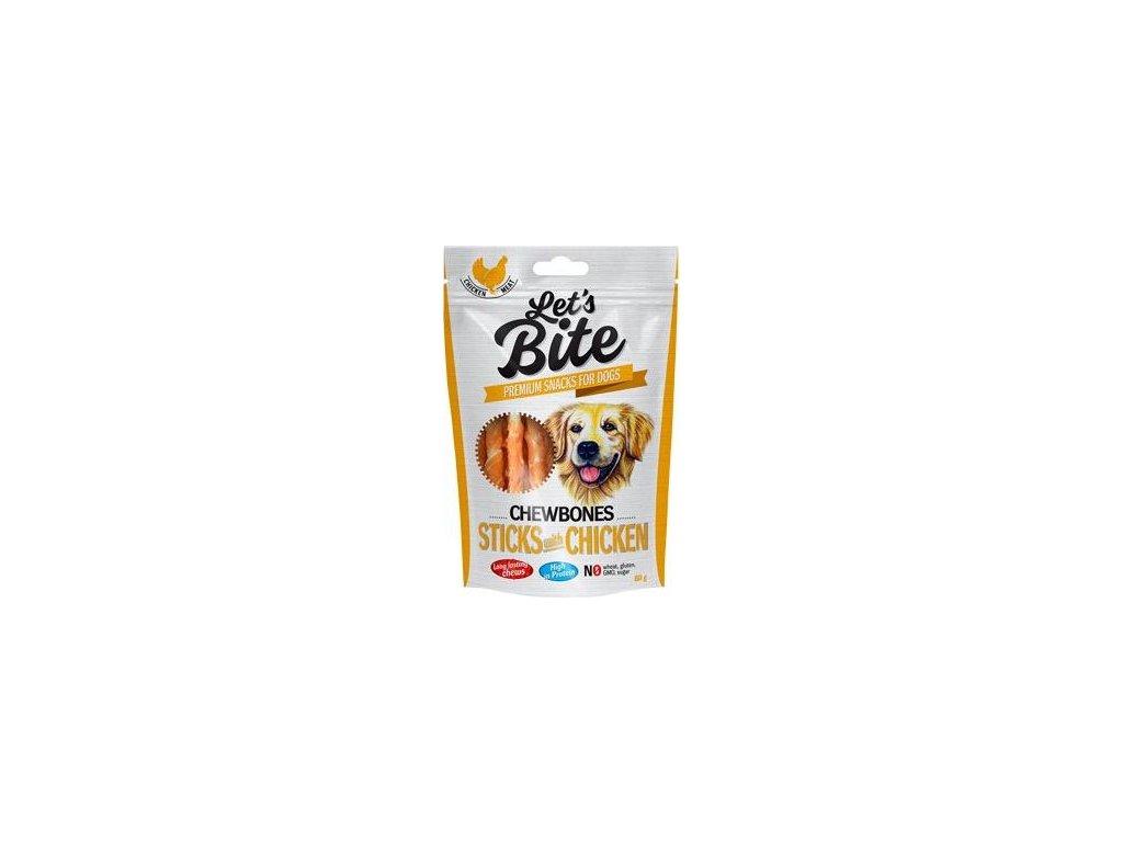 Brit Let's Bite Chewbones Sticks & Chicken 300g