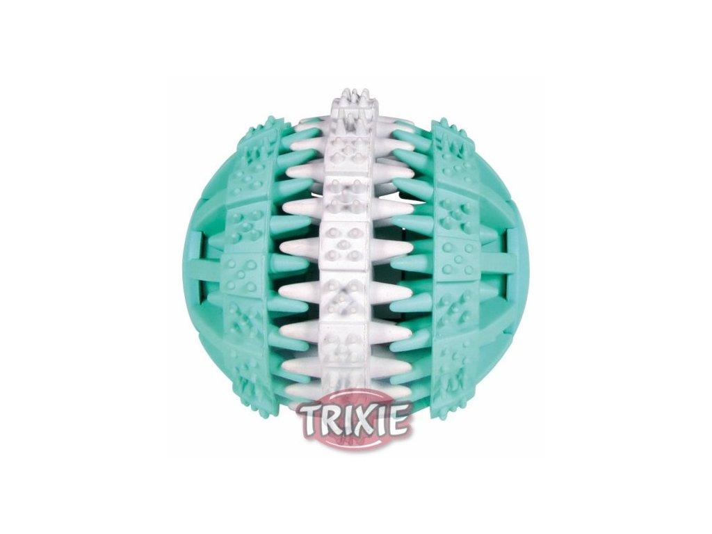 TRIXIE DENTAfun míč s mátou zeleno/bílý 6cm