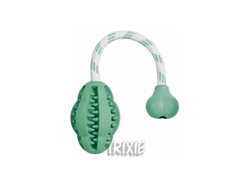 TRIXIE DENTAfun JUMPER na laně masážní, tvrdá guma  28 cm