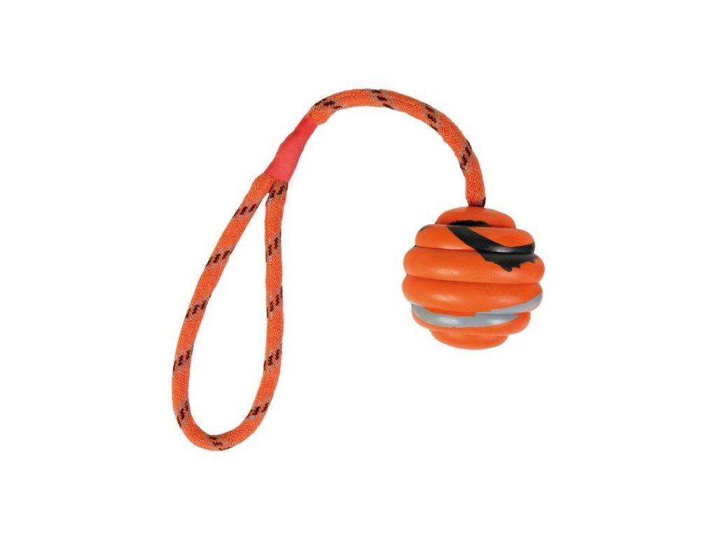 TRIXIE Vrhací vlnitý míč na šňůře 6cm/30cm
