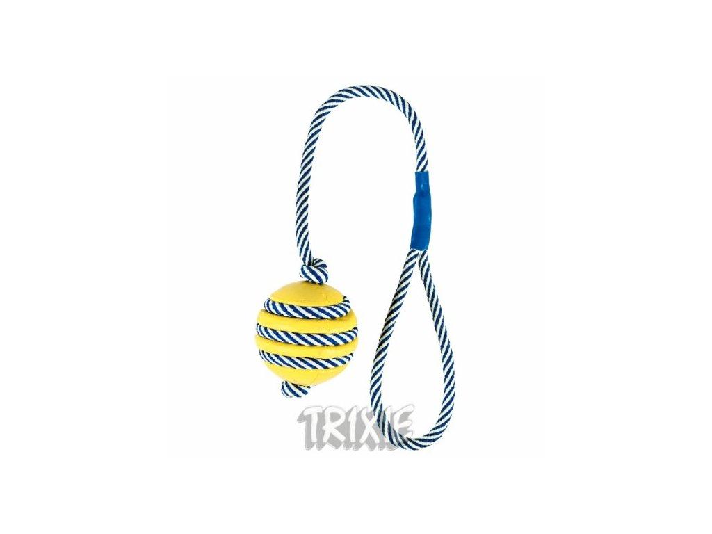 TRIXIE Vrhací míč na fosforeskující šňůře 5cm/40cm