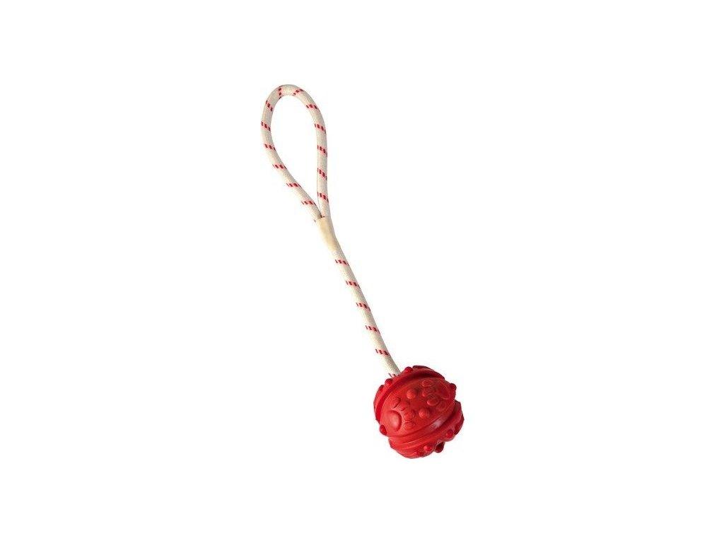 TRIXIE Plovoucí vrhací míč na šňůře malý 4,5cm/35cm