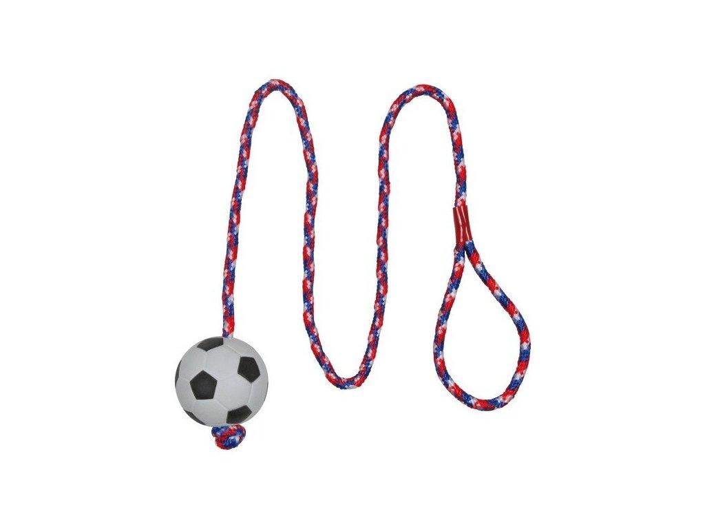 TRIXIE Vrhací míč mechová guma na šňůře 6cm/1m