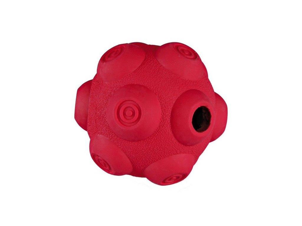 TRIXIE Dog Activity - hrbolatý míč na pamlsky, tvrdá guma 11 cm