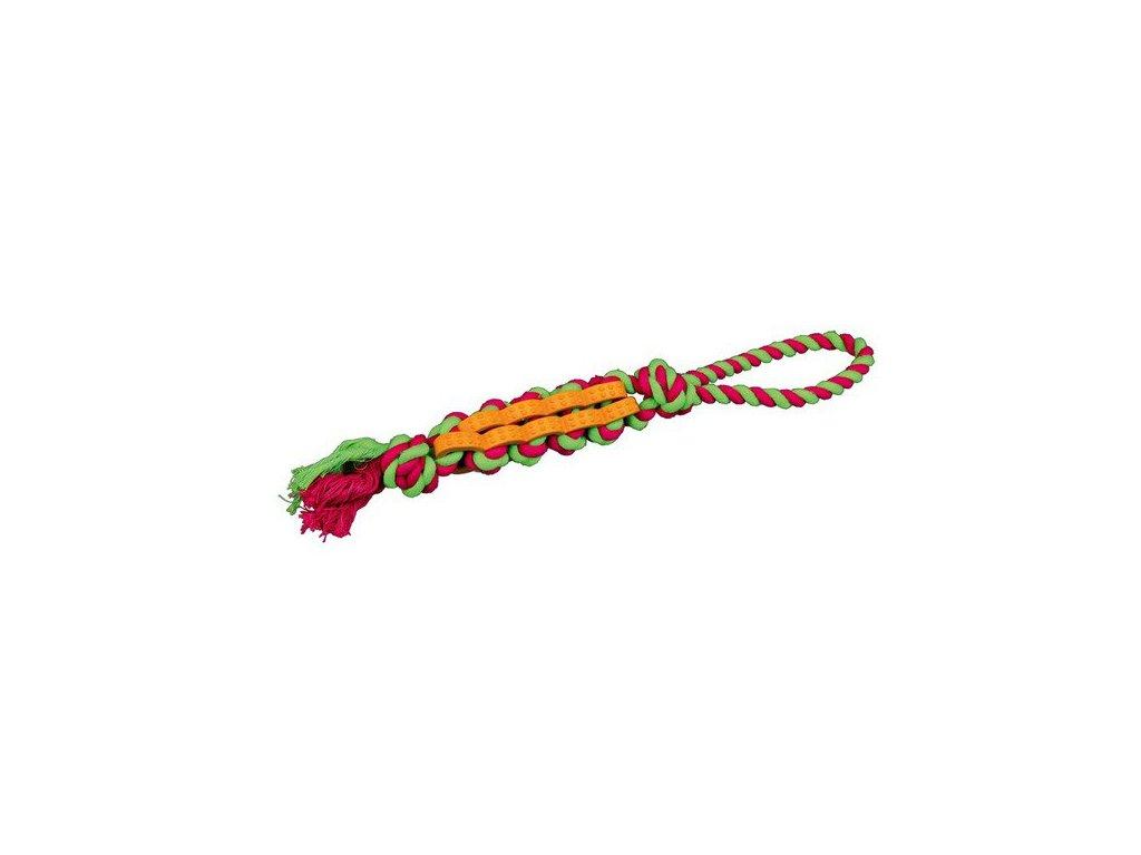 TRIXIE DENTAFun propletenec bavlna/guma na laně malý 4 cm/37 cm