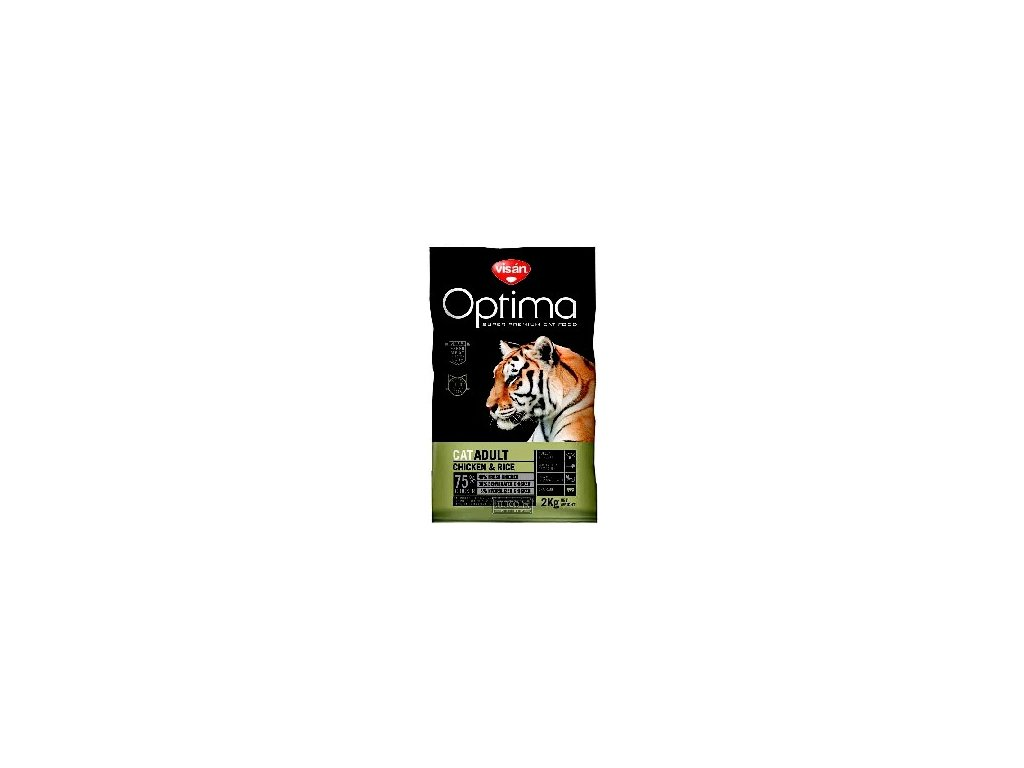 Visán OPTIMA nova CAT ADULT Chicken&Rice 2kg
