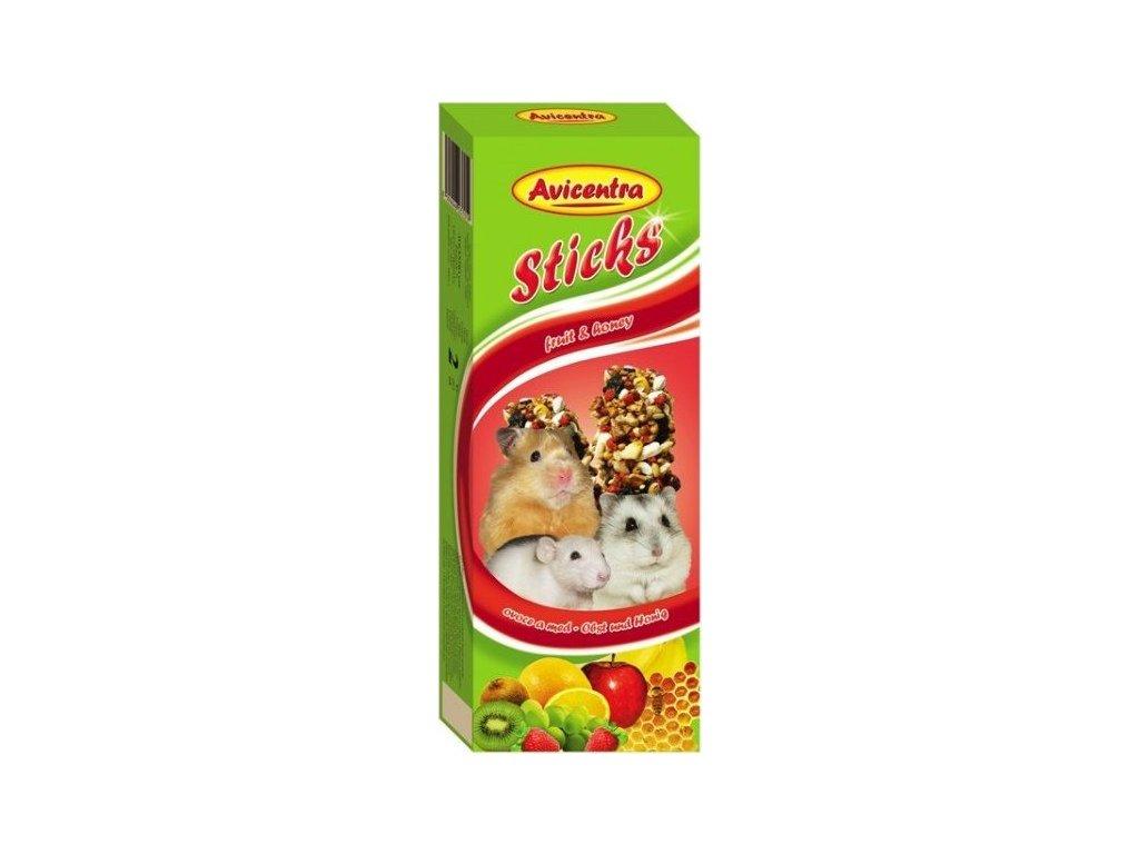 AVICENTRA tyčinky pro malé hlodavce - ovoce 2ks