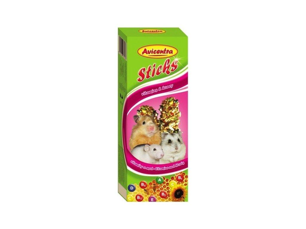 AVICENTRA tyčinky pro malé hlodavce - vitamin+med 2ks