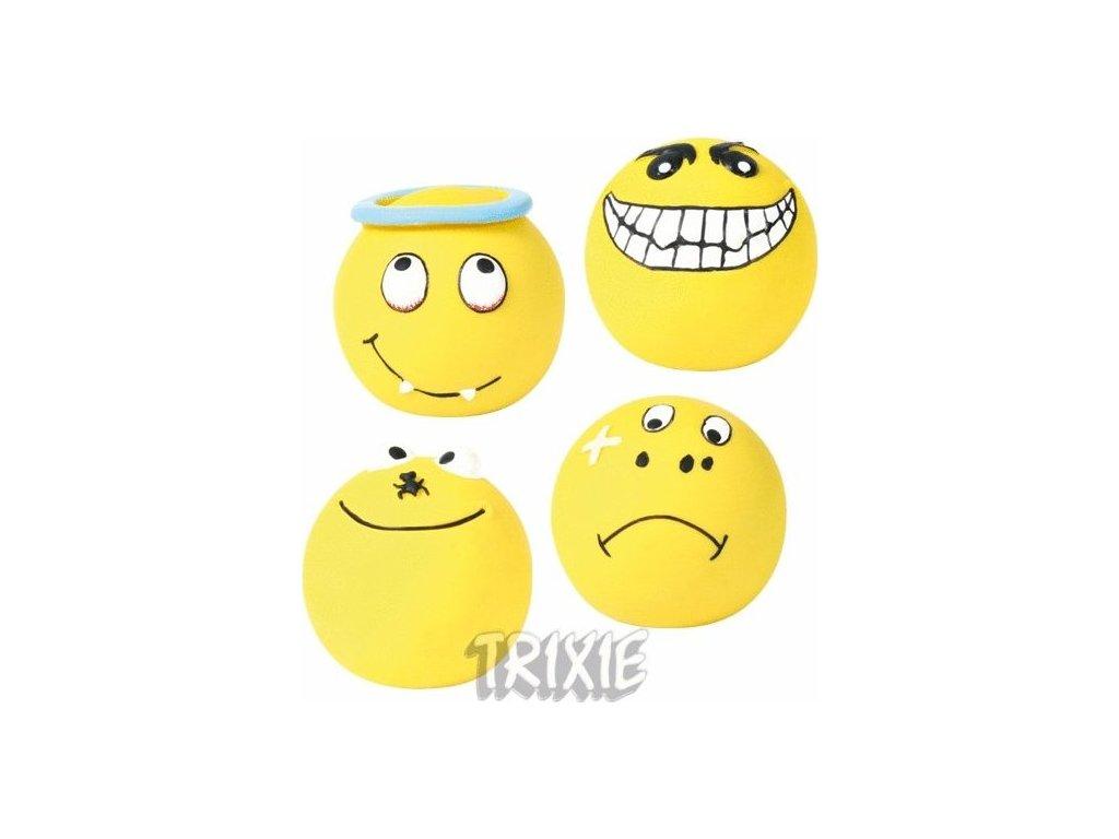 Latexový smajlík míček, žlutý malý plněný 6 cm [4]