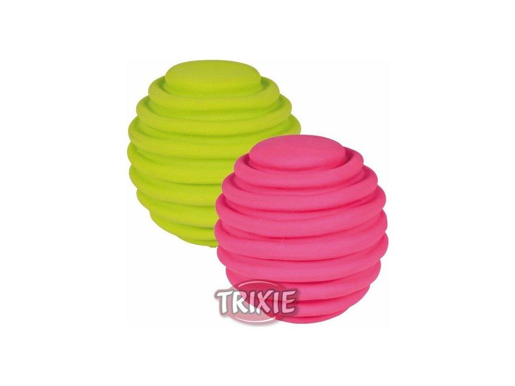 Latexový flexi míček s drážkami 6 cm
