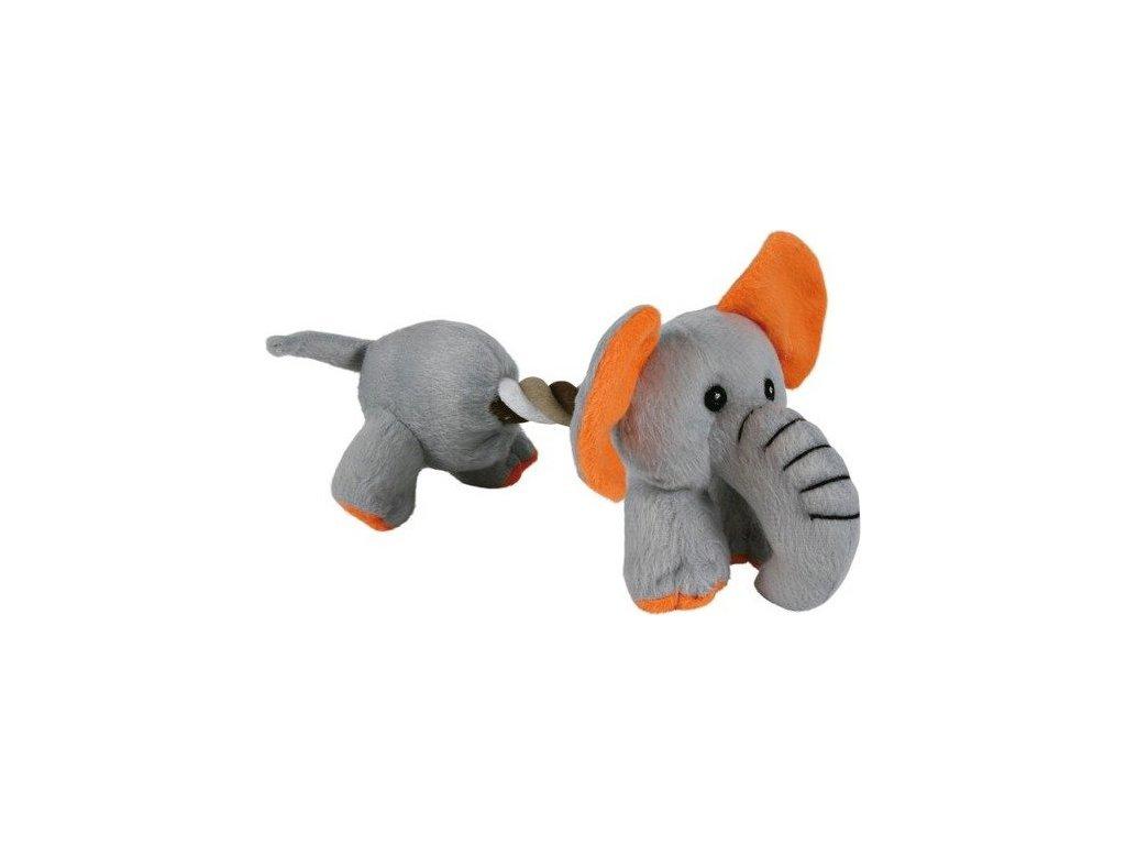 Plyšový pejsek/slon s bavlněnou šňůrou 17cm