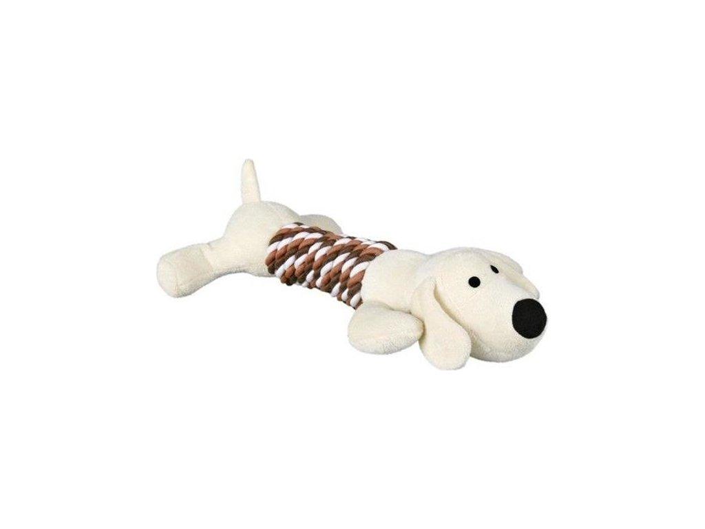 Plyšová aportovací zvířátka pes/hroch 32 cm