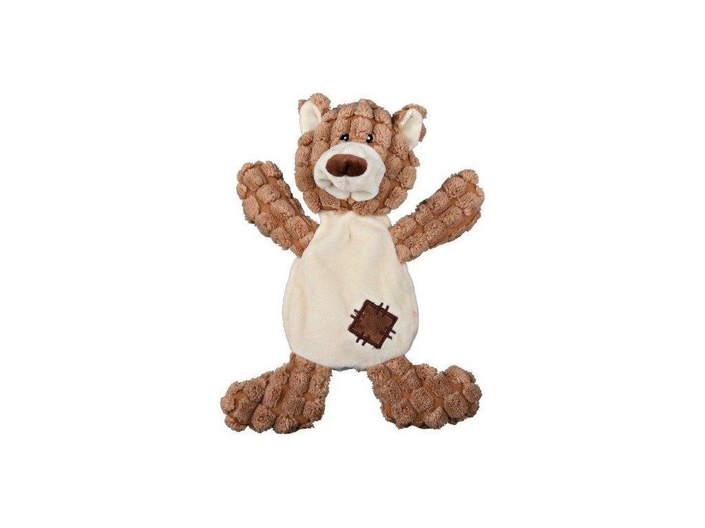 Plyšový medvěd se záplatami, se zvukem 30 cm