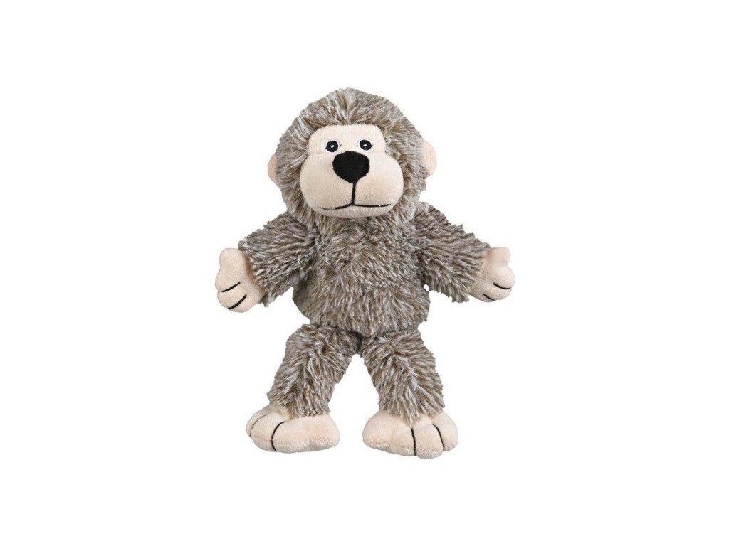 Plyšová opička se zvukem, šedá 24 cm