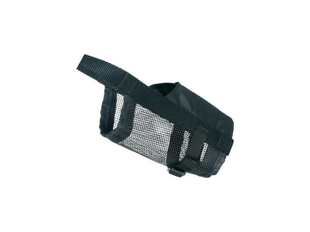 Náhubek nylonový se síťkou, polyester, černý S (jack rusell)