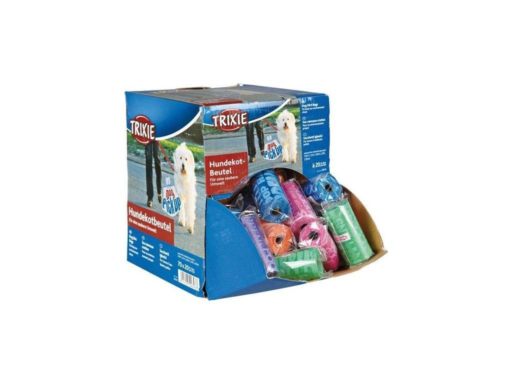 Karton s náhradními barevnými sáčky na trus M 70 rolí á 20ks