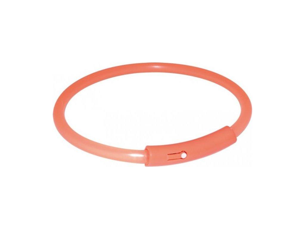 Light Band oranžový blikací obojek 32cm (S)