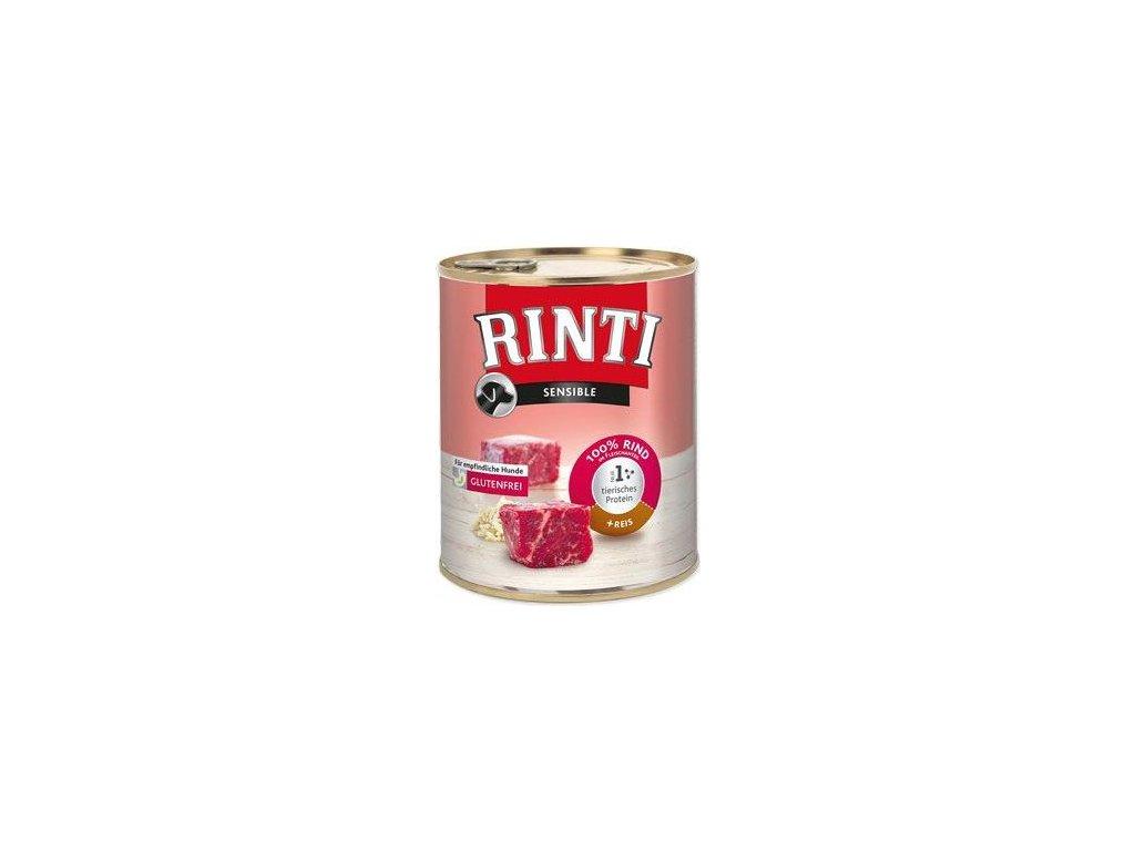Rinti Dog Sensible konzerva hovězí+rýže 800g