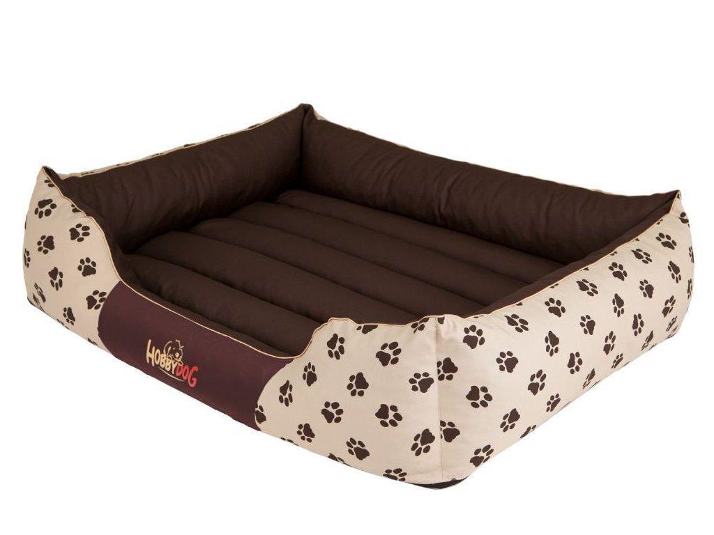 Pelíšek pro psa Prestige - béžový packy XXL 110 x 90 cm