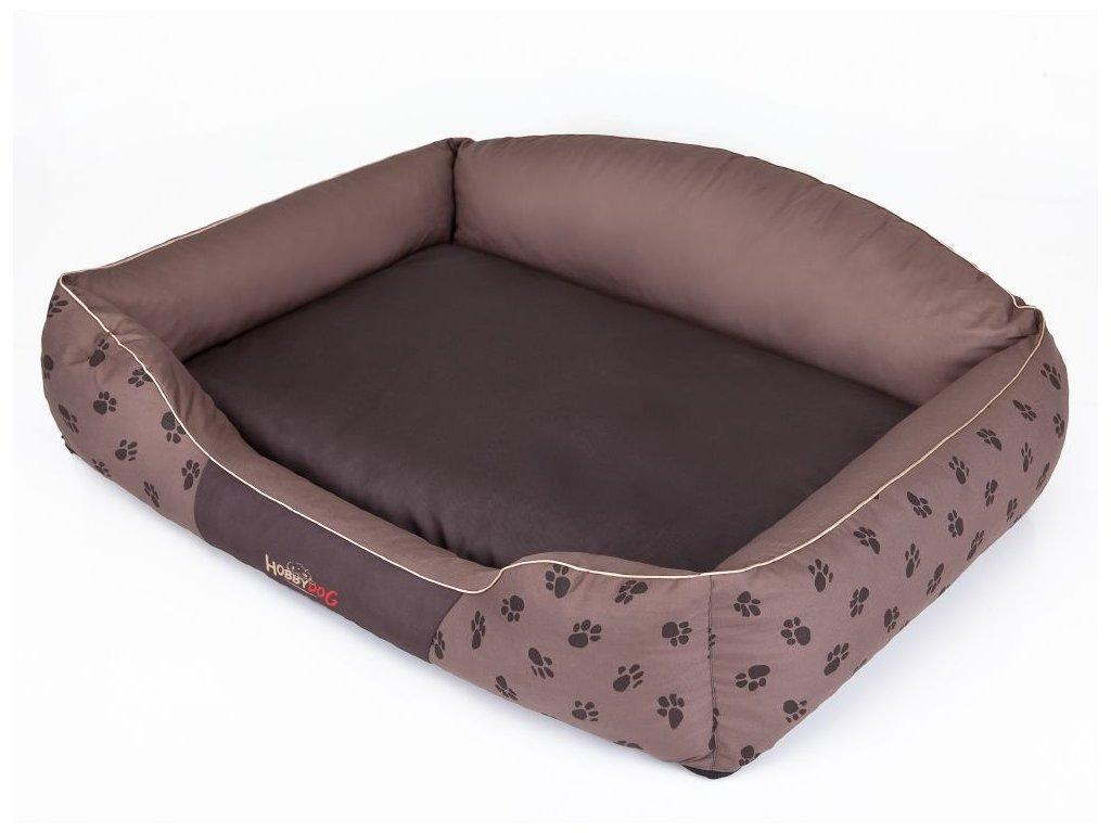 Pelíšek pro psa Royal - hnědá koruna XXL 110 x 85 cm