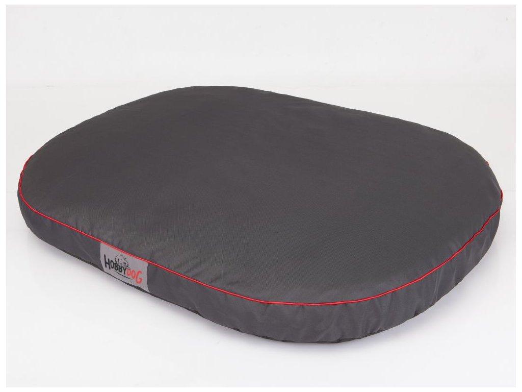 Matrace pro psa Ovál - šedá XL 108 x 85 x 15 cm