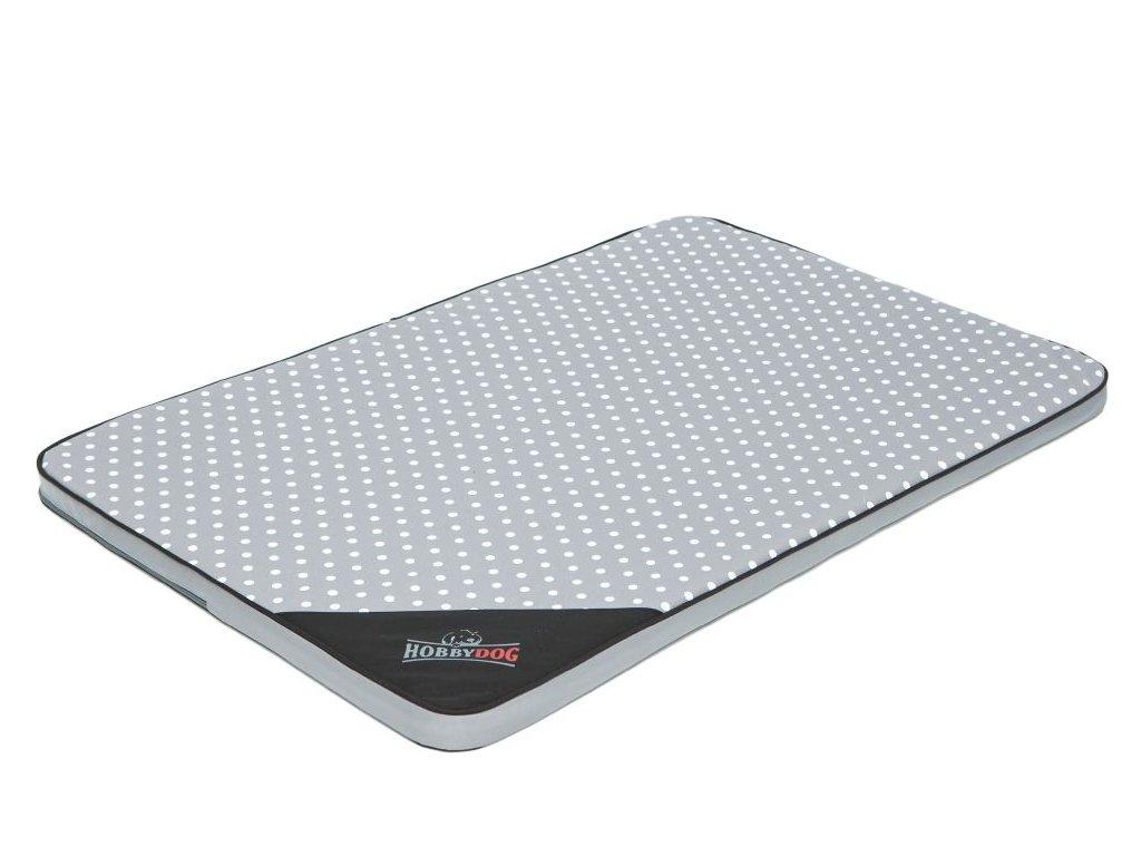 Matrace pro psa Light - šedá puntík L 10 x 67 x 3,5 cm