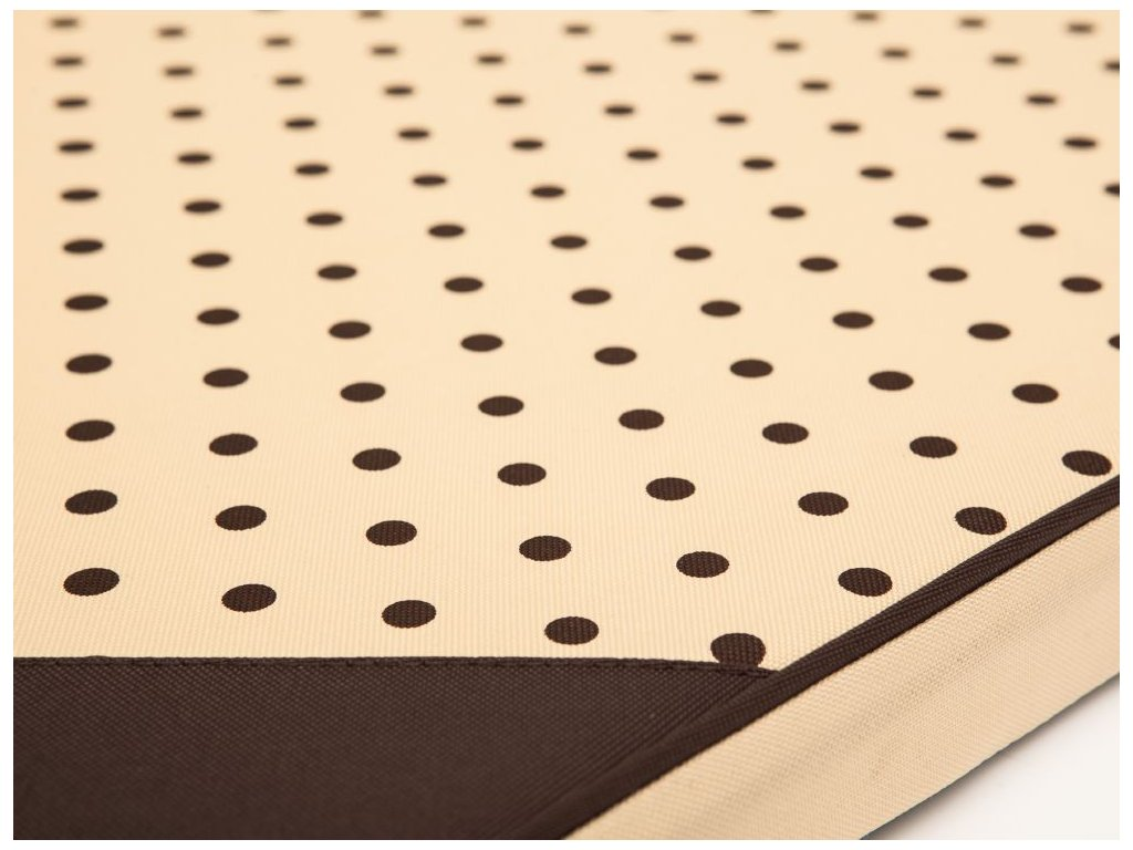 Matrace pro psa Light - béžová puntík  M 80 x 54 x 3,5 cm