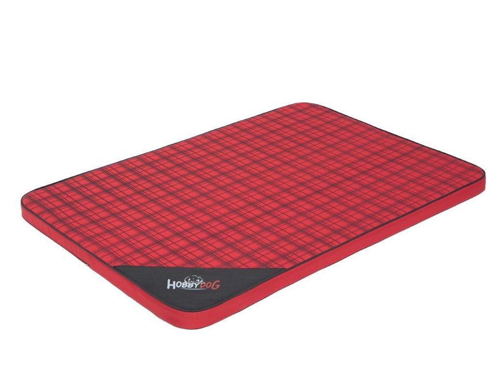 Matrace pro psa Light - červená kostka  M 80 x 54 x 3,5 cm