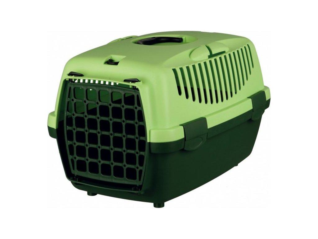 Transportní box CAPRI II 37x34x55cm max.do 8kg - tmavě zelená/s