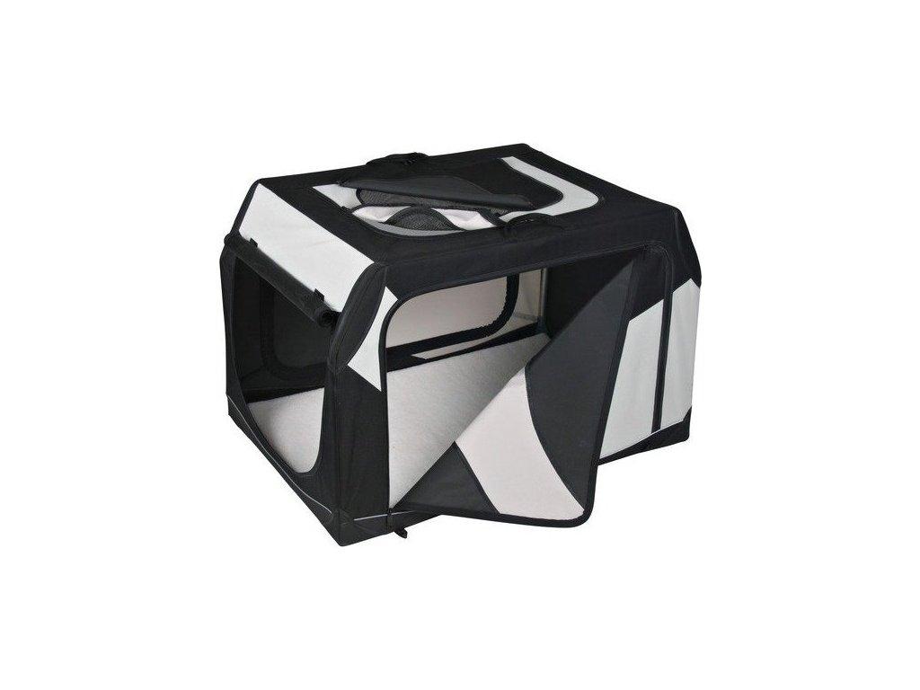 Transportní nylonový box Vario M-L 91x58x61 cm černo-šedý