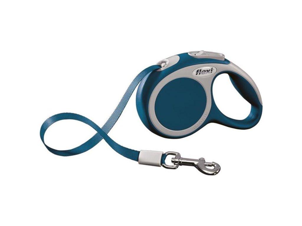 Vodítko FLEXI VARIO Pásek XS 3m/12kg Modrá 1ks
